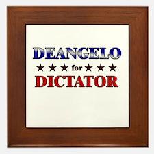 DEANGELO for dictator Framed Tile