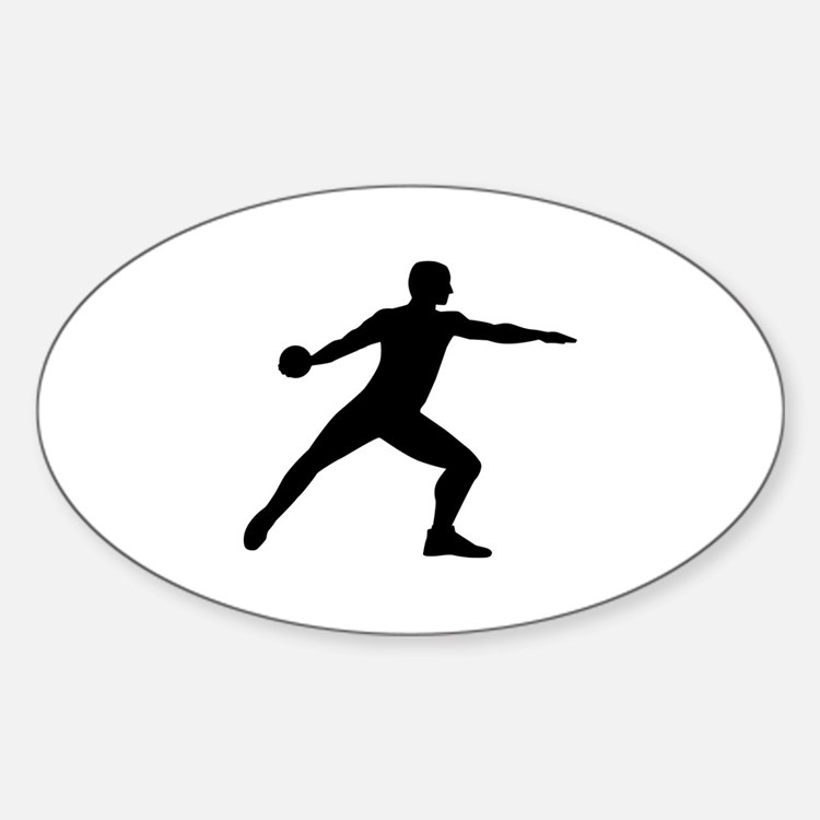 Discus throw Sticker (Oval)