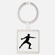 Discus throw Square Keychain