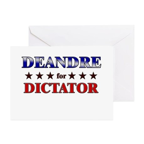 DEANDRE for dictator Greeting Cards (Pk of 20)