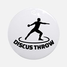 Discus throw Round Ornament
