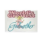 World's Greatest Godmother Rectangle Magnet