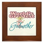 World's Greatest Godmother Framed Tile