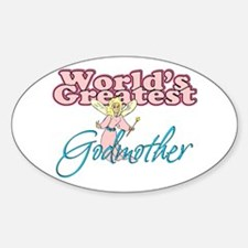 World's Greatest Godmother Oval Decal