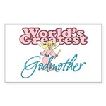World's Greatest Godmother Rectangle Sticker
