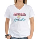 World's Greatest Godmother Women's V-Neck T-Shirt