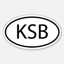 KSB Oval Decal