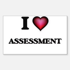 I Love Assessment Decal