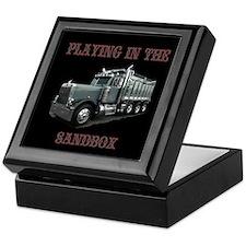 Playing In The Sandbox Keepsake Box