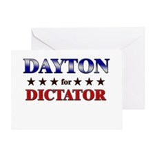 DAYTON for dictator Greeting Card