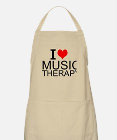 I Love Music Therapy Apron