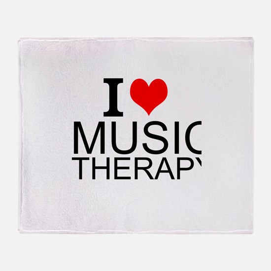 I Love Music Therapy Throw Blanket