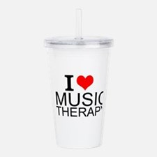 I Love Music Therapy Acrylic Double-wall Tumbler