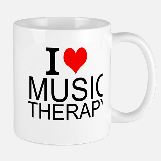 I Love Music Therapy Mugs