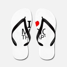 I Love Music Therapy Flip Flops