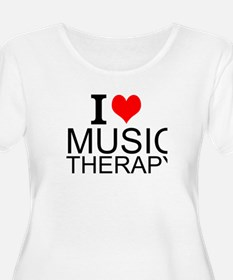 I Love Music Therapy Plus Size T-Shirt