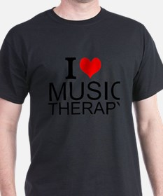I Love Music Therapy T-Shirt