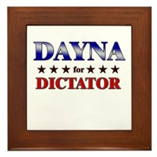 DAYNA for dictator Framed Tile