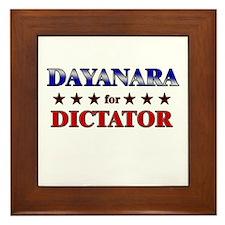 DAYANARA for dictator Framed Tile