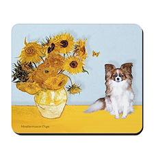 Sunflowers / Papillon(f) Mousepad