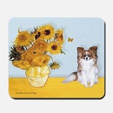 Sunflowers / Papillon(f) Mousepad