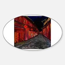 Cute Martial arts store Sticker (Oval)