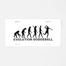 Evolution Dodgeball Aluminum License Plate