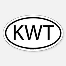 KWT Oval Bumper Stickers