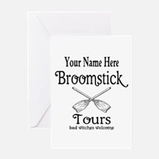 broomstick tours Greeting Cards