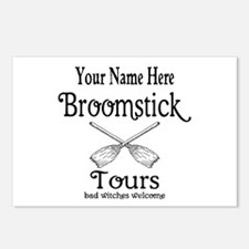 broomstick tours Postcards (Package of 8)