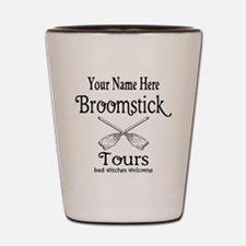 broomstick tours Shot Glass