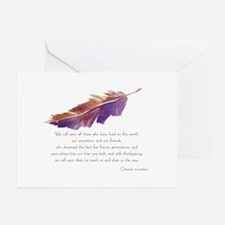 """Wisdom Feather"" Sympathy Cards (Pk of 10) Greetin"