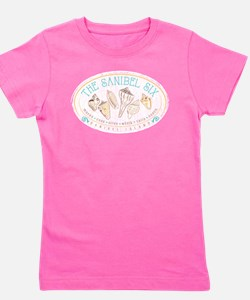 Sanibel Six Seashells Girl's Tee