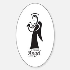 Animal Rescue Angel Rectangle Decal