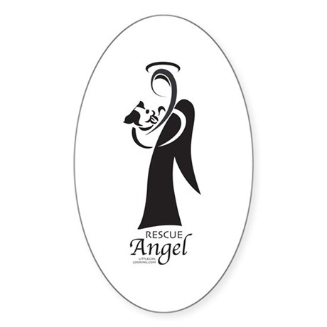 Animal Rescue Angel Rectangle Sticker