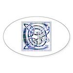 Monogram - Couper of Gogar Sticker (Oval)