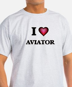 I Love Aviator T-Shirt