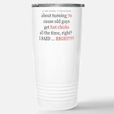 Unique Happy 70th birthday Travel Mug