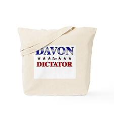 DAVON for dictator Tote Bag