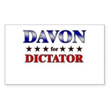 DAVON for dictator Rectangle Decal