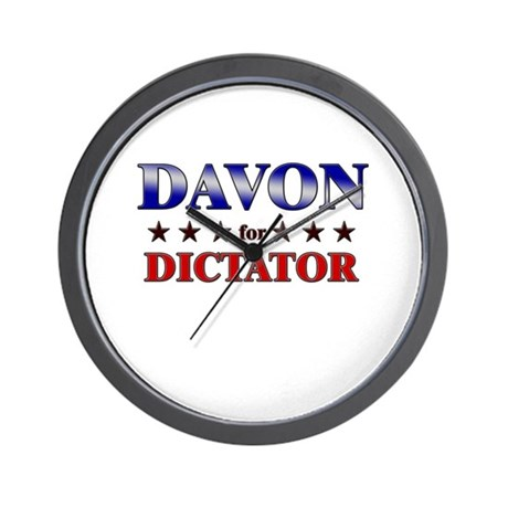 DAVON for dictator Wall Clock