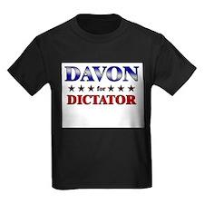 DAVON for dictator T