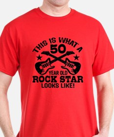 50 Year Old Rock Star T-Shirt