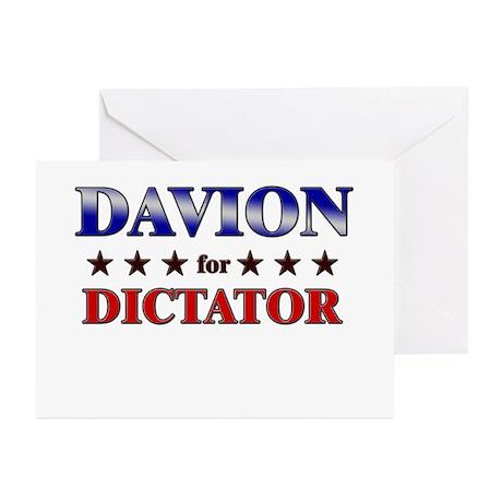 DAVION for dictator Greeting Cards (Pk of 20)