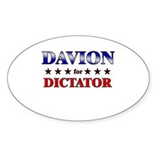 DAVION for dictator Oval Decal
