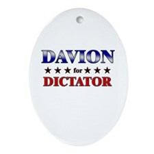 DAVION for dictator Oval Ornament