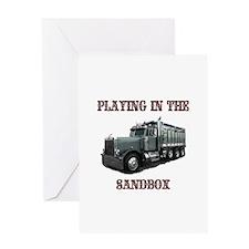 Playing In The Sandbox Greeting Card