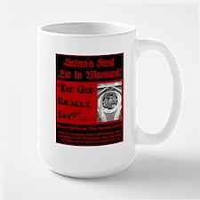 Satans First Lie Large Mug