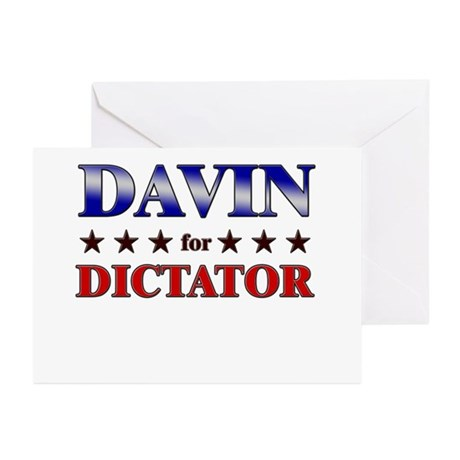 DAVIN for dictator Greeting Cards (Pk of 10)