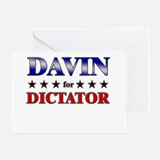DAVIN for dictator Greeting Card